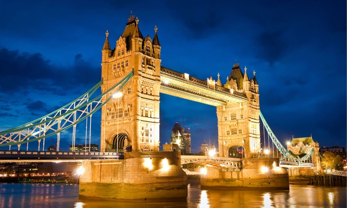 European Vacation with Airfare - London, Plymouth, Cardiff, and Stratford-upon-Avon: 8-Day Vacation in London, Paris, and Rome with Airfare from Gate 1 Travel