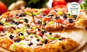 Pizzaria Nova Grécia: Pizzaria Nova Grécia – Floresta: pizza Super Família ou combo de pizza grande e média doce