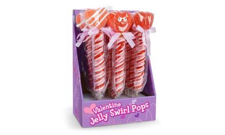 Valentine Jelly Swirl Pops (12-Pack)