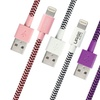 Urge Basics 3Ft. Apple-Certified Braided Fabric Lightning USB Cable