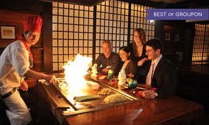 Kobe Steakhouse Vancouver: Hibachi Meal for Two or Four at Kobe Japanese Steak and Seafood House (Up to 45% Off)