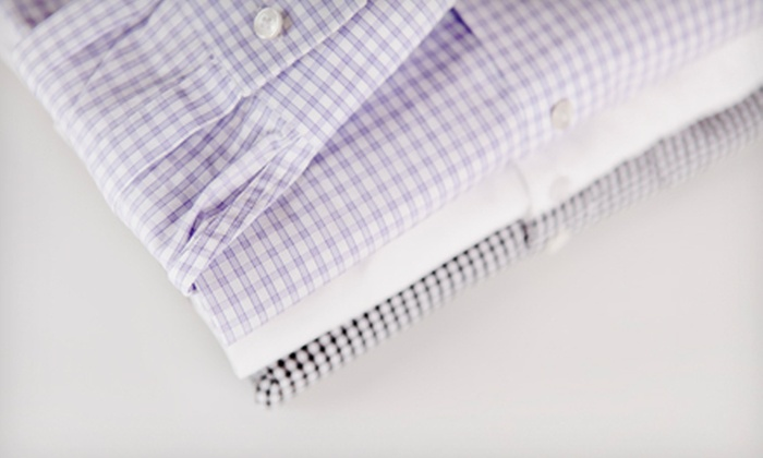 The Laundry Center - Multiple Locations: Pickup and Drop-Off Dry Cleaning or Wash-and-Fold Service at The Laundry Center (Half Off). Two Options Available.