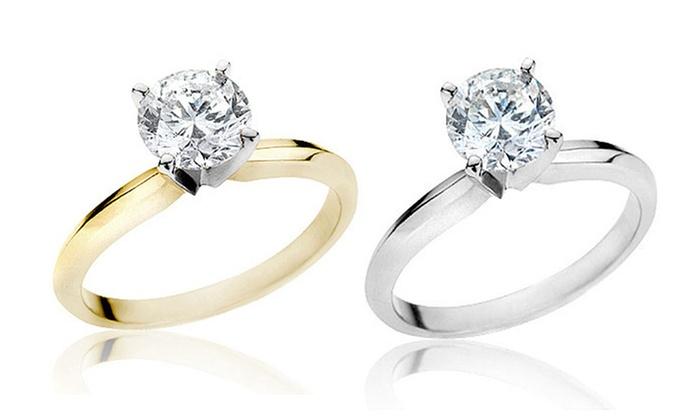 1.50 CTW Certified Diamond Ring in 14-Karat Gold: 1.50 CTW Certified Diamond Ring in 14-Karat Gold