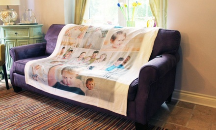 Customized Fleece or Velveteen Collage Blanket from Collage.com (Up to 69% Off). Three Options Available.
