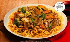 Lig Lig - Campinas: Yakissoba de carne/frango ou vegetariano para 1, 2 ou 4 pessoas no Lig Lig – Cambuí