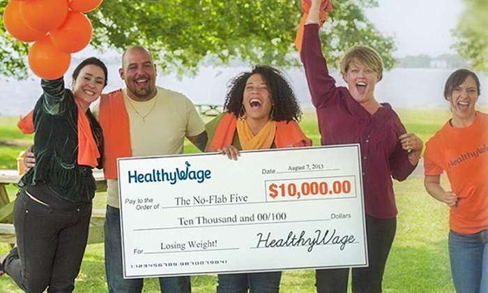 HealthyWage: $39 for Individual Entry to the Team Weight Loss Challenge with Prizes Up to $10,000 from HealthyWage ($75 Value)