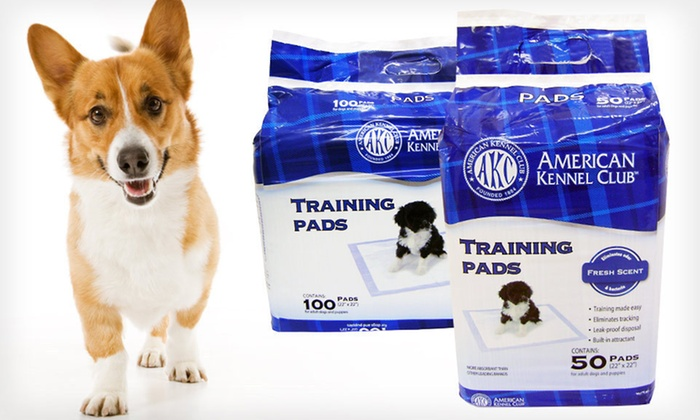 American Kennel Club Puppy-Training Pads: 50 or 100 American Kennel Club Puppy-Training Pads (Up to 20% Off). Free Shipping and Returns.