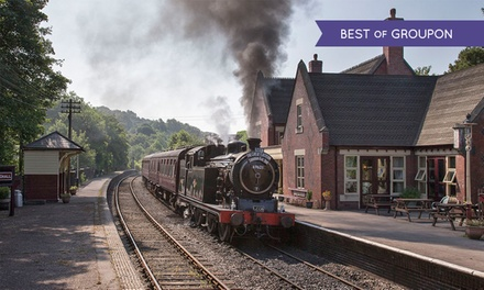 Churnet Valley Railway: Green or Blue timetable Family Ticket with Unlimited Rides