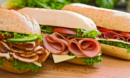 $12 for Two Groupons, Each Good for $10 Worth of Food at Charlie's Famous Hoagies ($20 Total Value)
