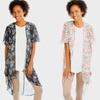 Lyss Loo Women's Pretty Paisley Printed Kimono Cardigan