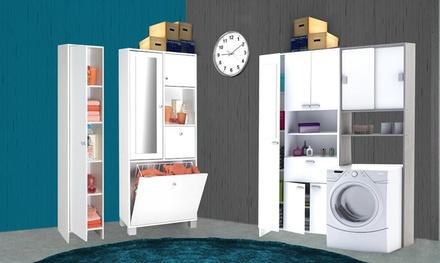 Mobili per bagno a colonna groupon goods - Mobile sopra lavatrice ...