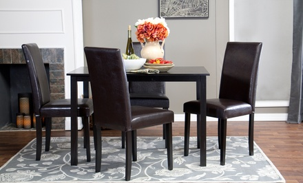 Luna Dark Brown 5-Piece Dining Set