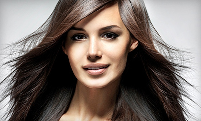 Cooper Alley Salon - Larkspur: Haircut and Kerastase with Option for Single-Process Color or Partial Highlights at Cooper Alley Salon (Up to 66% Off)