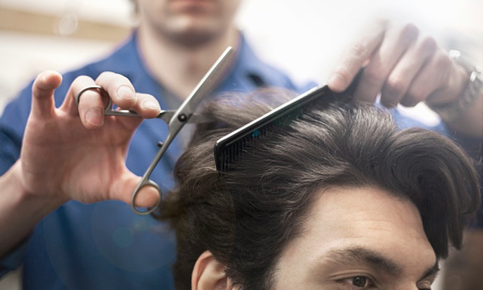 Trouble Salon - Landmark Towers Condominiums: Three Men's Haircuts with Shampoo and Style from Trouble Salon (22% Off)