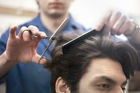 Trouble Salon: Three Men's Haircuts with Shampoo and Style from Trouble Salon (22% Off)