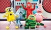 "Yo Gabba Gabba! Live: Get the Sillies Out! - Toyota Oakdale Theatre: ""Yo Gabba Gabba! Live: Get the Sillies Out!"" at Toyota Presents Oakdale Theatre on Saturday, February 9, at 5 p.m."
