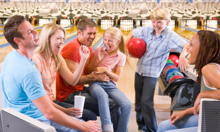 Pines Plaza Lanes - Ross: Classic or Galactic Bowling with Shoe Rental for Two or Four at Pines Plaza Lanes (Up to 62% Off)