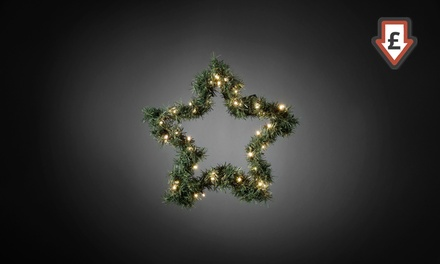 Decorative Christmas Fir Star with 40 (£16.98) or 60 (£20.99) LED Lights