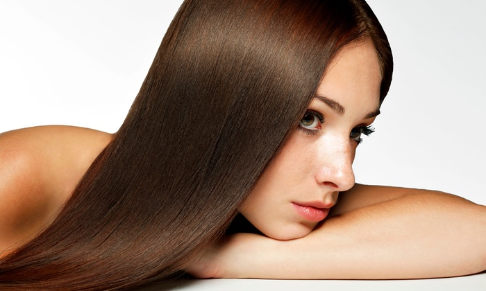 Salon DHS - Inside M&M Hair and Nail Studio: Brazilian Blowout for Short, Medium, Long, or Extra-Long Hair  at Salon DHS (Up to 55% Off)