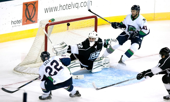 Denver Cutthroats - Elryia Swansea: Denver Cutthroats Hockey Game for Two at Denver Coliseum on Valentine's Day or Saturday, February 22 (Up to 67% Off)