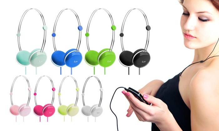 iLuv Sweet Cotton Headphones: $12 for iLuv Sweet Cotton Headphones with Built-In Remote/Mic ($59.99 List Price). Eight Colors Available. Free Returns.