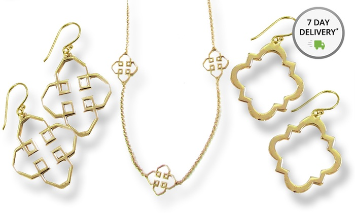 Matching Earrings Amp Necklace Set Groupon Goods