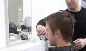 Monica West Hair Salon: Men's Haircut Package with Options for Beard Trims and Color at Monica West Hair Salon (Up to 51% Off)