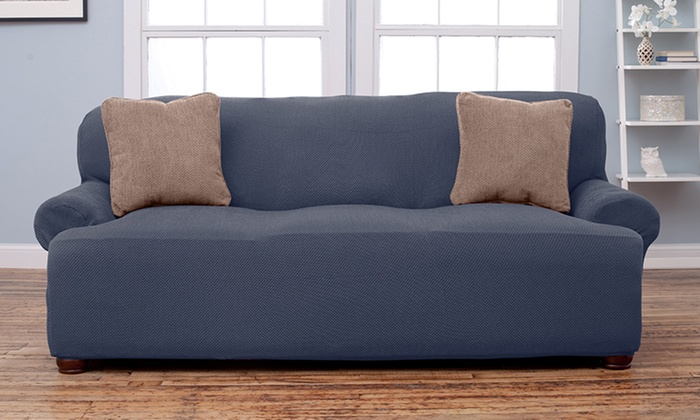 65% Off On Form Fit Stretch Slipcover | Groupon Goods
