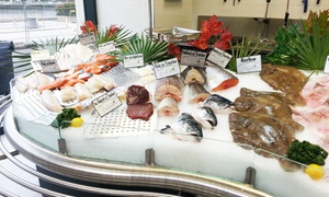 Poissonnerie de l'île de la jatte: Bon d'achat donnant droit à 40% de réduction sur les produits de la poissonnerie de l'île de la Jatte à 5 €