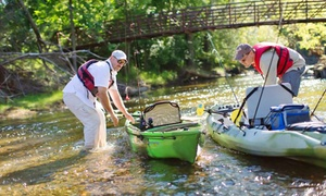 Clear Waters Outfitting Company: Kayak Fishing Package for Two or Four on Mississippi River from Clear Waters Outfitting Company (Up to 56% Off)