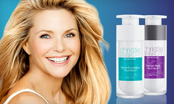 Christie Brinkley Anti-Aging DNA Renewal System: $34 for the Christie Brinkley Day and Night DNA Renewal System ($99.95 List Price)
