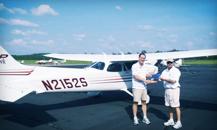 Blue Line Aviation LLC - Umstead: Introductory Flight Lesson or Flight-Training Starter Package from Blue Line Aviation LLC (Up to 47% Off)