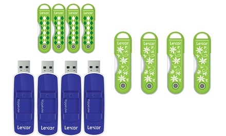 Four-Pack of Lexar 16GB JumpDrive TwistTurn USB Flash Drives