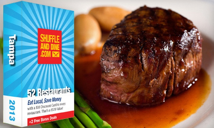 Shuffle and Dine Tampa: $20 for a Deck of 52 Gift Cards to Local Restaurants Plus Free Golf for Two from Shuffle and Dine Tampa ($60 Value)