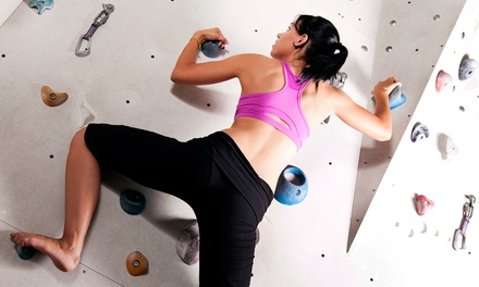 Beginners Climbing Package or All-Day Climbing Pass for Two at Evo Rock and Fitness (Up to 56% Off)