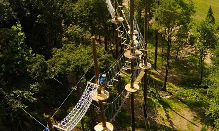 High Ropes Course Adventure with Ziplining at Blue Mountain Resort (Up to 46% Off). Three Options Available.