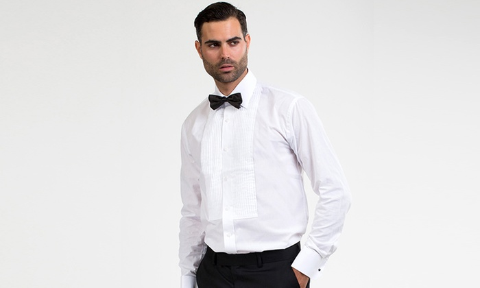 Tuxedo Dress Shirt With Bowtie Groupon Goods