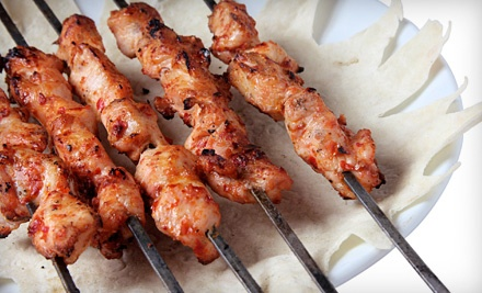 10 or 20 Chicken or Beef Kebabs, or 41-Piece Barbecue Platter from Hanna Meat (Up to 52% Off)