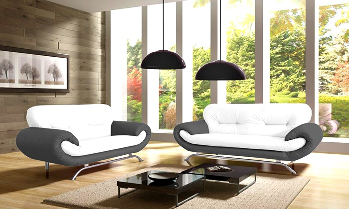 canap nicoletta bicolore groupon shopping. Black Bedroom Furniture Sets. Home Design Ideas