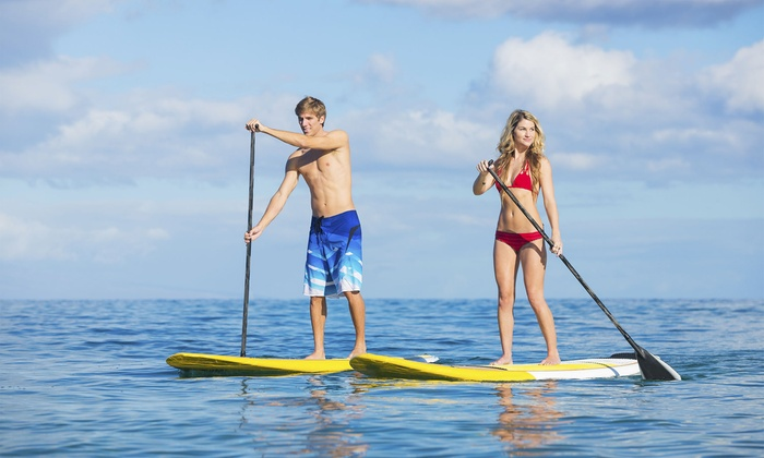 Riverwalk Recreation - Fort Lauderdale: 4-Hour Paddleboard or Kayak Rental for 2 or 4 at Riverwalk Recreation (Up to 53% Off). Four Options Available.