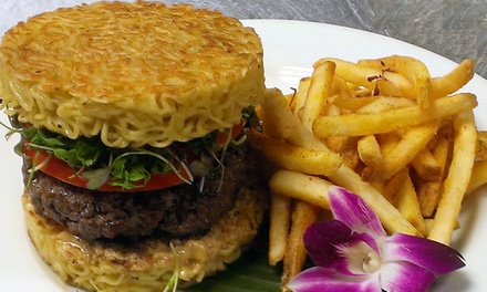 Ramen Burgers, Asian Beers, and Mochi Ice Cream for Two or Four at Trader Vic's (Up to 49% Off). Five Dates Available.