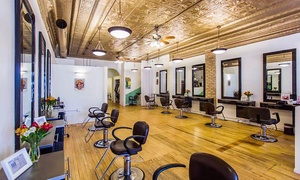 Toujours Spa & Salon: Haircut or Color Package at Toujours Spa & Salon (Up to 56% Off). Four Options Available.