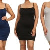 Women's Plus-Size Slips (3-Pack)