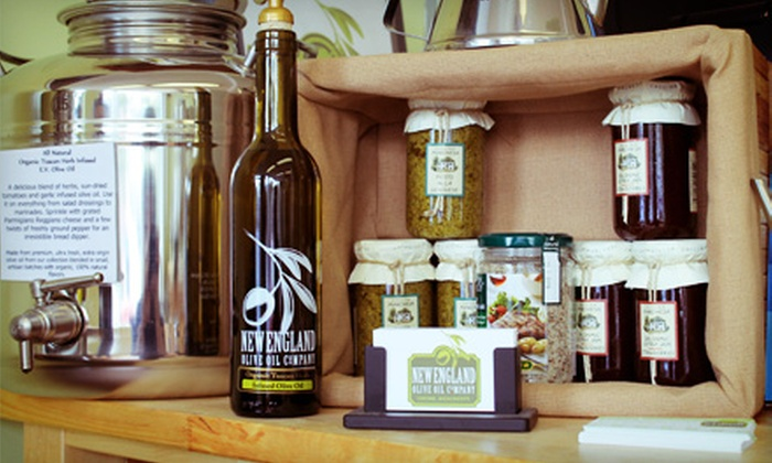 New England Olive Oil Company - Concord: Olive-Oil Tasting for Two, or Take-Home Items at New England Olive Oil Company (Half Off). Two Options Available.