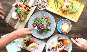 Harlan Pepper Food Co: All-Day Breakfast or Lunch for One ($12), Two ($23) or Four People ($45) at Harlan Pepper Food Co (Up to $76 Value)