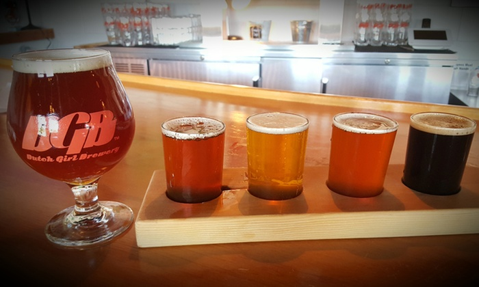 Dutch Girl Brewery - Spring Lake, MI: Two or Four Flights with Full Pour or Super Flight with Commemorative Glass at Dutch Girl Brewery (Up to 51% Off)