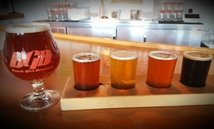 Dutch Girl Brewery: Two or Four Flights with Full Pour or Super Flight with Commemorative Glass at Dutch Girl Brewery (Up to 51% Off)