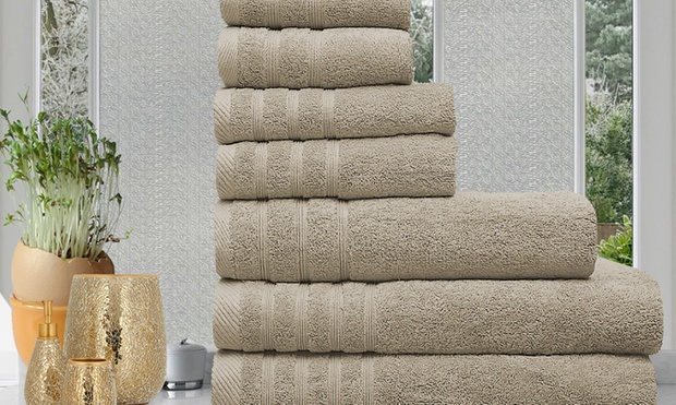 $35 for Seven 100% Egyptian Cotton Towels in Choice of Colour