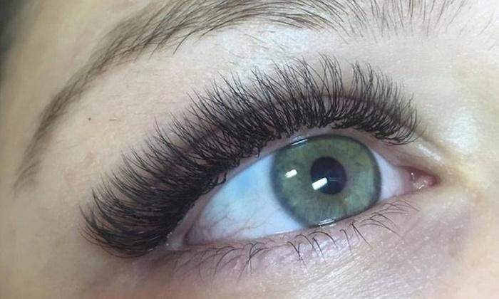 Glam I'Lashes - Glam I'Lashes: Full Set of 2D Russian Volume Eyelash Extensions at Glam I'Lashes (51% Off)