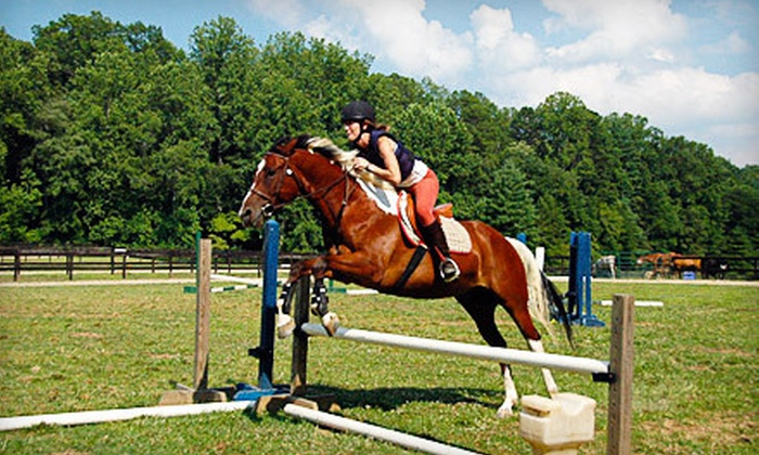 Winding Creek Stables - Bent Creek: One or Four Group Horse-Riding Lessons at Winding Creek Stables (Up to 57% Off)